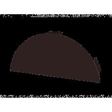 Заглушка конька круглая плоская
